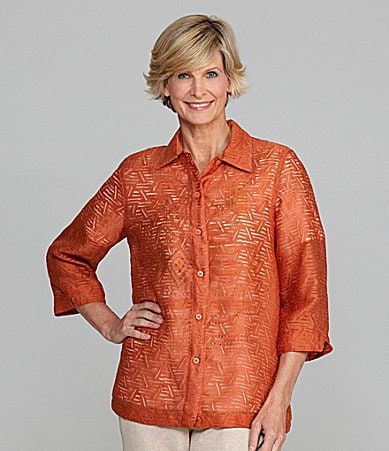 Allison Daley Crush Burnout Blouse