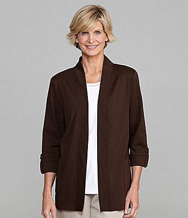 Allison Daley II Knit Open-Front Cardigan