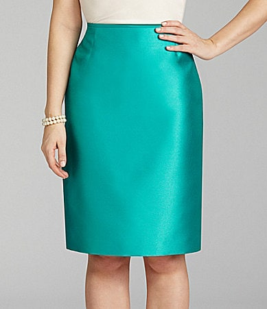 Preston & York Sid Satin Pencil Skirt