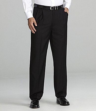 Daniel Cremieux Signature Solid Pleated Pants