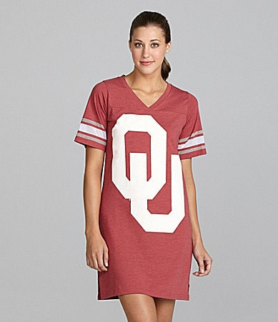 Emerson Street University of Oklahoma Burnout Jersey Nightshirt