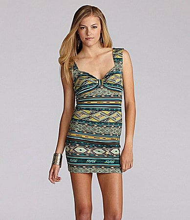 GB Printed Bodycon Dress
