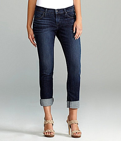 James Jeans Slouch Fit Boyfriend Cropped Jeans