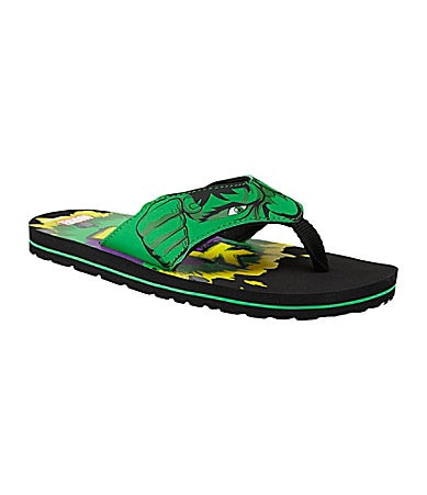 Stride Rite Boys Hulk Thong Sandals