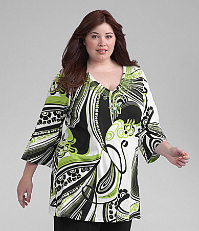 Joyous & Free Woman 3/4 Sleeve Tunic