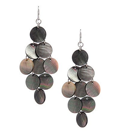 Kenneth Cole New York Shell Chic Chandelier Earrings