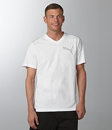 Puma Basic Solid V-Neck Tee