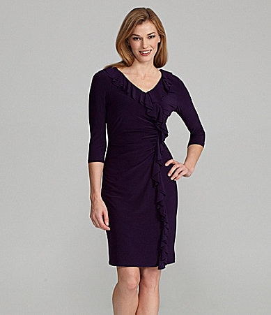 Jessica Howard Cascade Ruffle Sheath Dress
