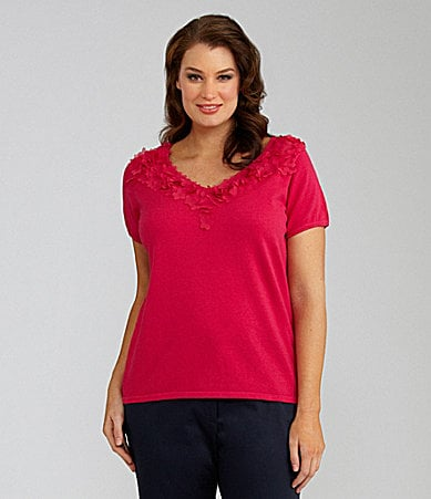 Alex Marie Woman Julianna Petal-Detail Knit Top