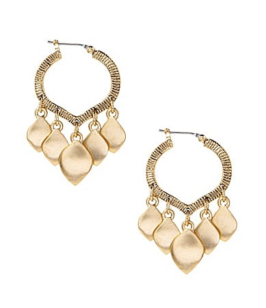 Lauren Ralph Lauren Golden Kashmir Hoop Earrings