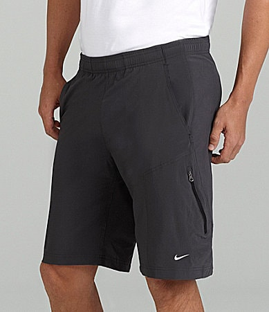 Nike Solid Woven Athletic Shorts