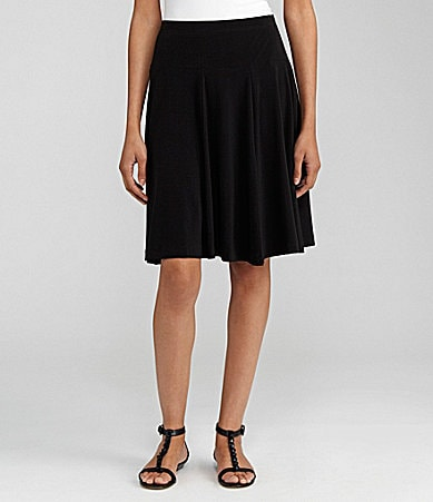 Chaus Solid Pleated Skirt