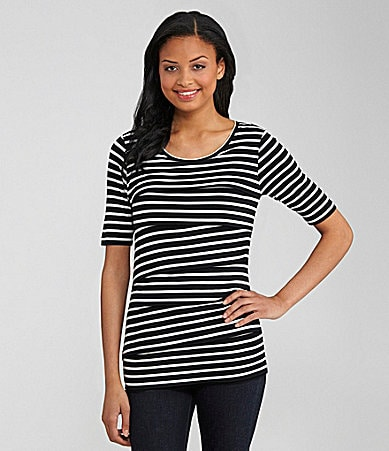 Chaus Zigzag Stripe Top