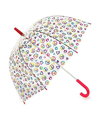 Capelli New York Love/Peace Sign Dome Umbrella
