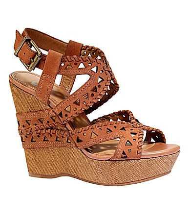 Gianni Bini Knock-Out Platform Wedge Sandals