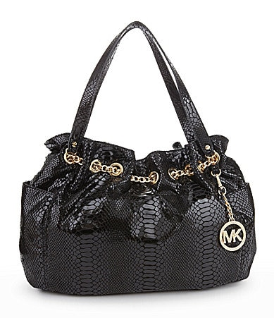 MICHAEL Michael Kors Jet Set Python-Embossed Chain Ring Tote