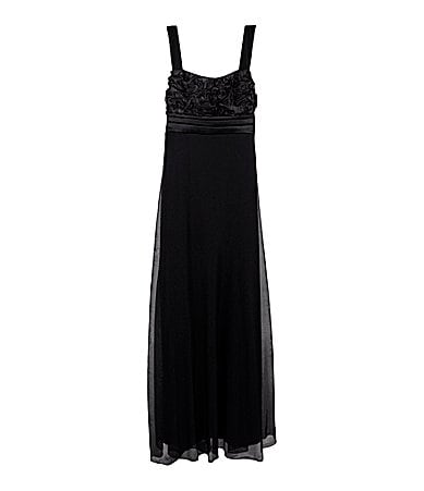 Ruby Rox 7-16 Pleated Maxi Dress