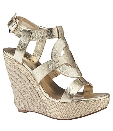 Guess Dailona Platform Wedge Sandals