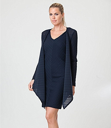 JS Collections Shadow-Stripe Jacket Dress