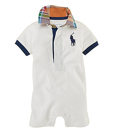 Ralph Lauren Childrenswear Newborn Big Pony Rugby Shortall