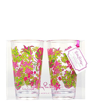 Lilly Pulitzer Set of 2 Acrylic Tumblers