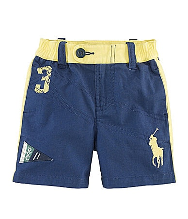 Ralph Lauren Childrenswear Infant Big Pony Canvas Shorts
