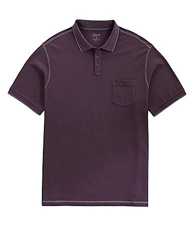 Roundtree & Yorke Casuals Big & Tall Solid Pocket Polo Shirt