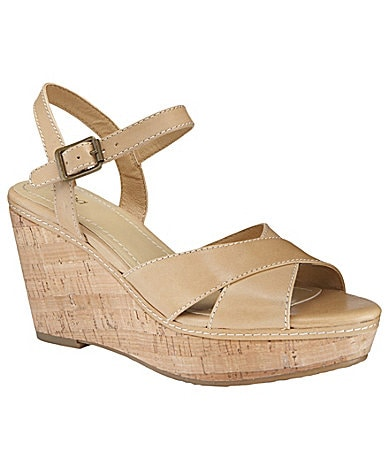 Reba Scuff Wedge Sandals