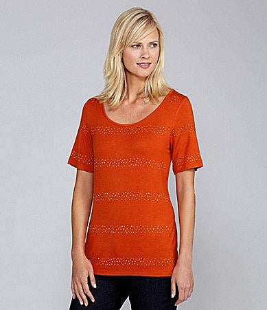 Investments II Beaded Scoopneck Top