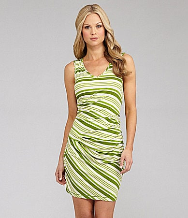M.S.S.P. Sleeveless Striped Jersey Dress