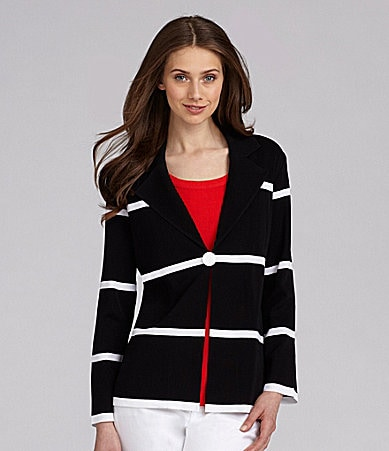 Exclusively Misook Space-Stripe Jacket