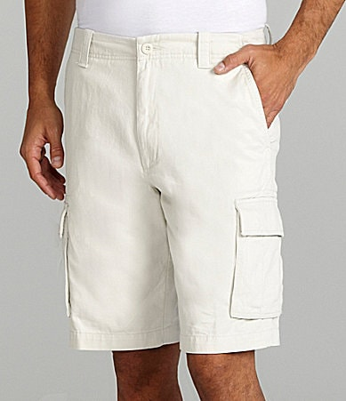 Roundtree & Yorke Big & Tall Washed Twill Cargo Shorts
