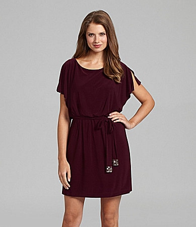 Jessica Howard Woman Flutter-Sleeve Blouson Dress