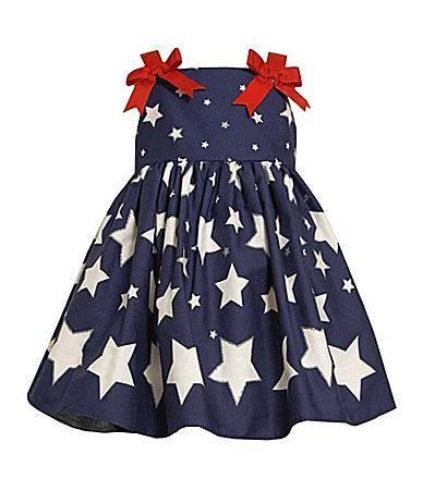 Bonnie Jean 2T-6X Star Print Dress