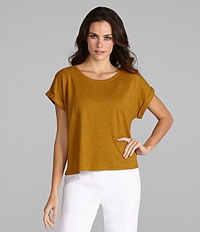 Eileen Fisher Petites Scoopneck Top