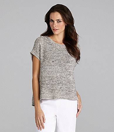 Eileen Fisher Ballet-Neck Top