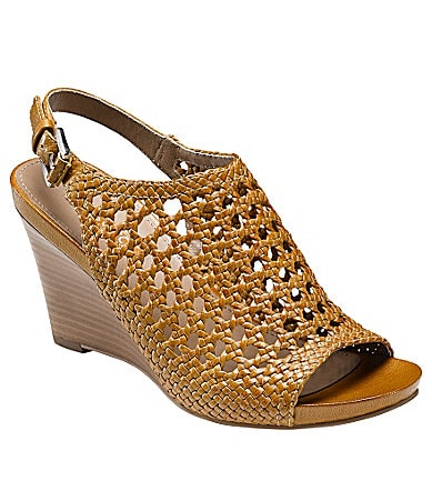 Ecco Women�s Kalac Woven Wedge Sandals