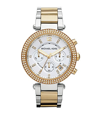 Michael Kors Parker Two-Tone Chronograph Watch