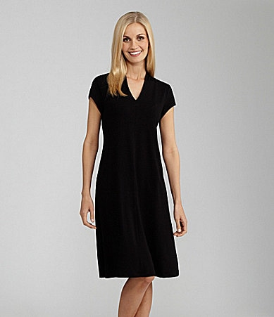 Eileen Fisher V-Neck Jersey Dress