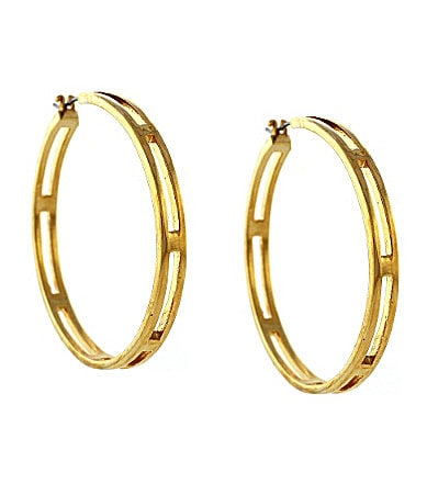Vince Camuto Cut Hoop Earrings