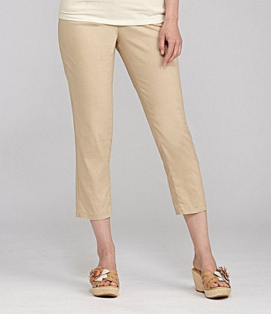 Nurture Cropped Slim-Leg Pants