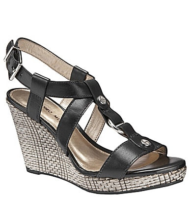 Antonio Melani Campbell T-Strap Wedge Sandals