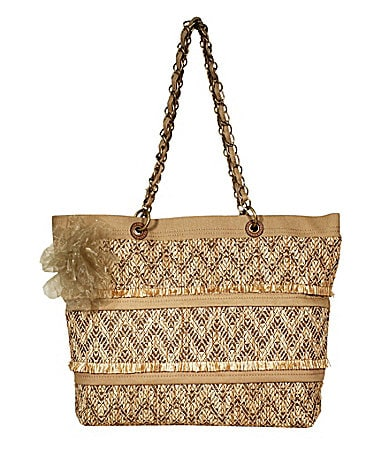 Jessica Simpson Day Dreamer Straw Tote