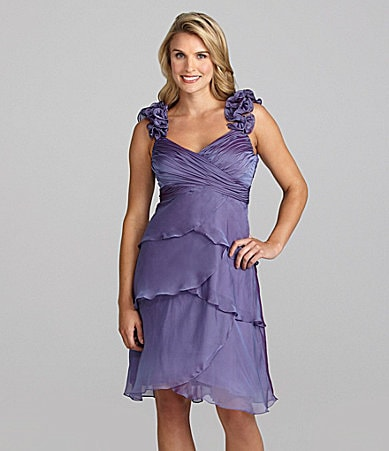 Ignite Evenings Ruched Tiered Dress