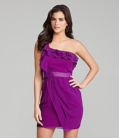 Gianni Bini Katinka One-Shoulder Ruffle Dress