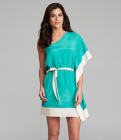 Gianni Bini Harvey One-Shoulder Flutter Dress
