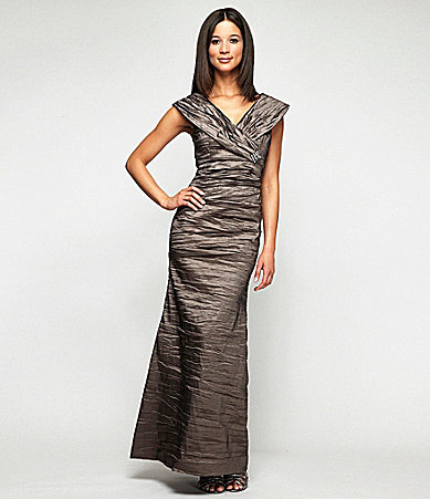Alex Evenings Woman Ruched Taffeta Gown