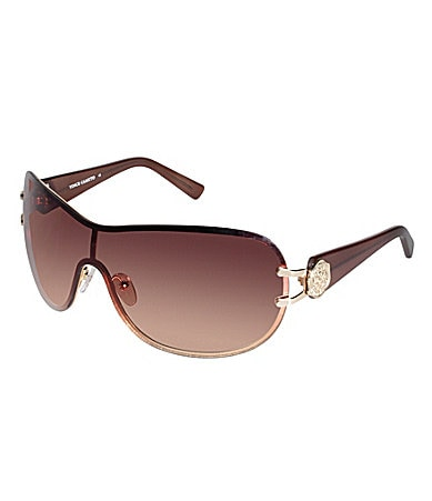 Vince Camuto Classic Oval Shield Sunglasses