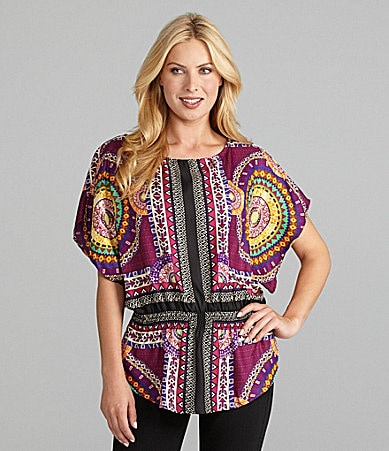ECI Tribal-Print Top
