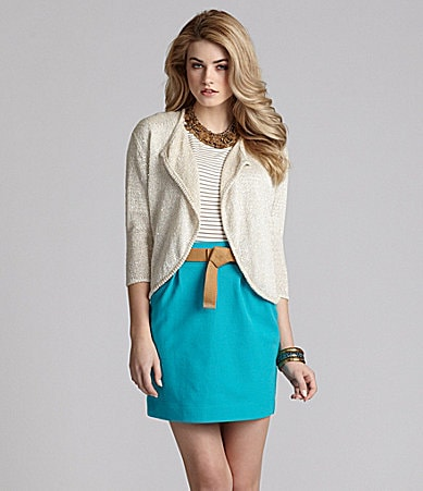 Cremieux Brianna Sequin Cardigan, Laura Striped Knit Top & Bella Skirt